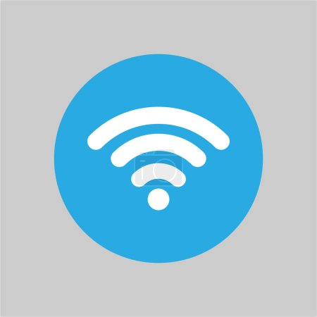 Photo for Wifi icon flat design. vector illustration. - Royalty Free Image