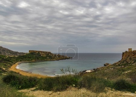 Maltese nature beauty nearby Qarraba natural wonder, between Gnejna bay and Ghajn tuffieha bay (Riviera), Ta Lippija, Mgarr, Malta