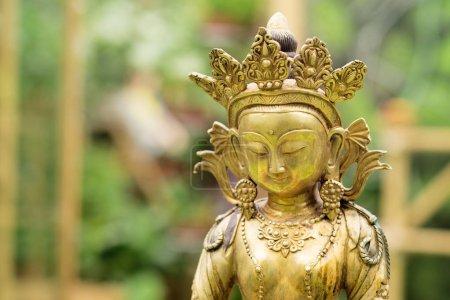 Close view of Golden Buddha