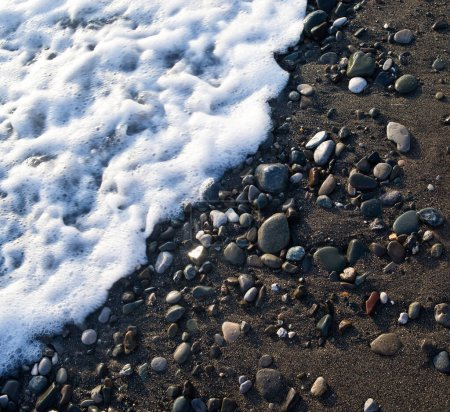 Photo for Pebble background, sea rock texture - Royalty Free Image
