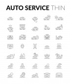 Auto service thin icon