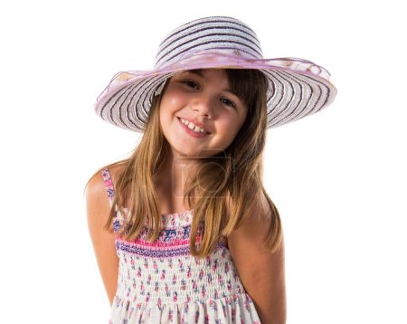 Photo for Little girl with a big hat - Royalty Free Image