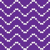 white waves zigzags balls on a purple background