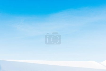 Photo for Clear blue sky in carpathian mountains covered with snow - Royalty Free Image