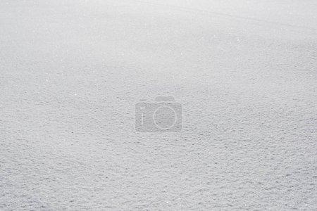 Photo pour Gros plan de la neige blanche texturée avec espace copie - image libre de droit