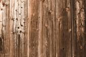 """Постер, картина, фотообои """"Браун выветривания текстурированные деревянные планки с копией пространства"""""""