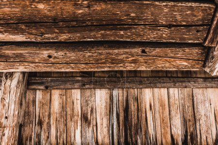 Photo for Brown weathered textured wooden planks - Royalty Free Image