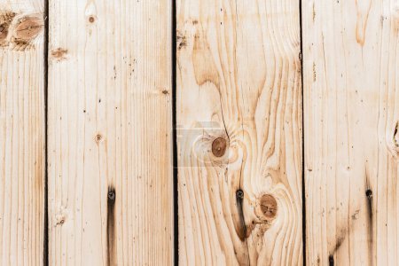 Photo for Beige textured wooden planks with copy space - Royalty Free Image