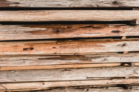 Photo for Aged weathered wooden planks textured background - Royalty Free Image