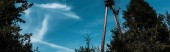 panoramic shot of blue sky with clouds in park