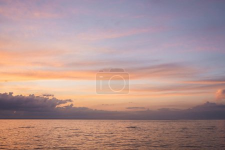 Landscape of cloudy sky and sea during sunset