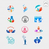children care baby care logo template vector illustration icon elements with business card
