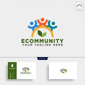 human tree leaf community logo template vector illustration icon element