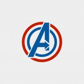 avengers Logo isolated vector icon symbol avengers