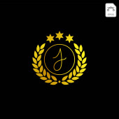 luxury j initial logo or symbol business company vector icon isolated