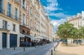 Paris, place Dauphine, beautiful place and public square, ancient buildings