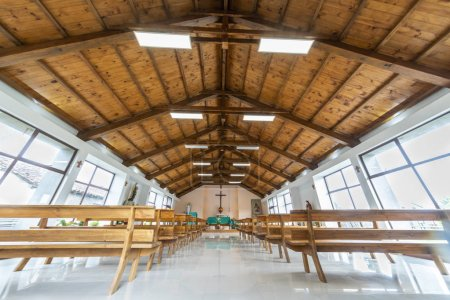 Photo for Inside view of church interior, Cobquecura, Chile - Royalty Free Image