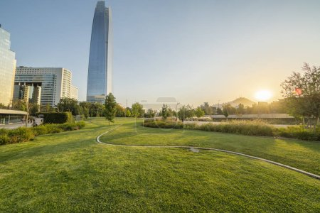 Photo for Amazing views of Santiago de Chile city at sunny summer day, Chile - Royalty Free Image