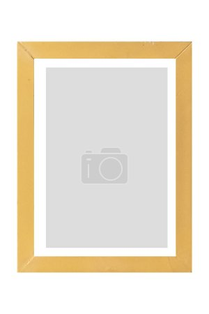 Brown wood photo frame isolate on whitebackground