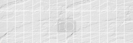 Panorama de la pierre blanche carreaux fond mur