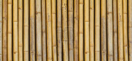 Brown bamboo fence pattern and background