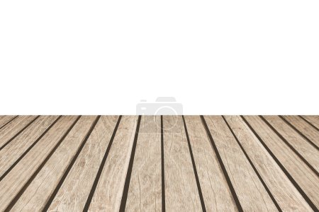 Blank white background and wood floor background