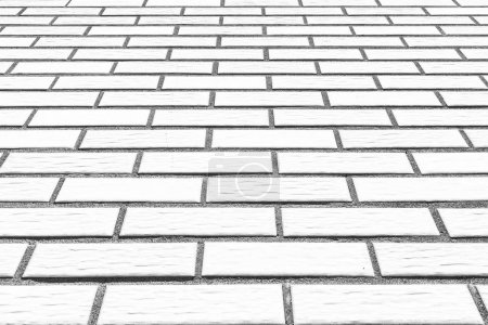 Outdoor white stone brick floor pattern and background