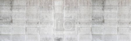 Photo for Cement brick wall pattern and seamless background - Royalty Free Image