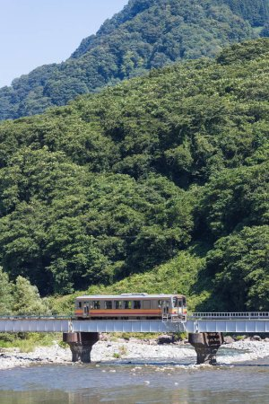 View of Oito line, which connects Matsumoto Station in Nagano Prefecture