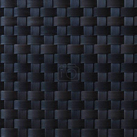 Black plastic pattern and texture background