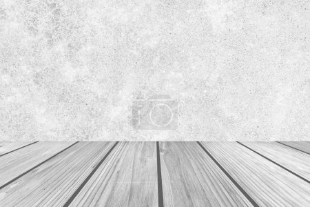concrete wall and wooden floor background