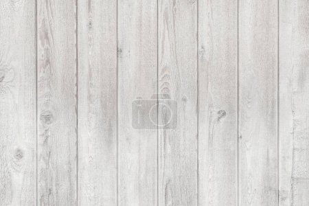 White vintage wooden planks pattern and background