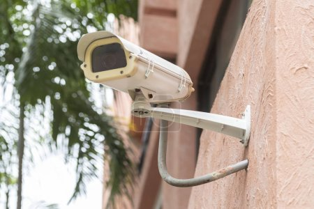 CCTV security camera on building wall