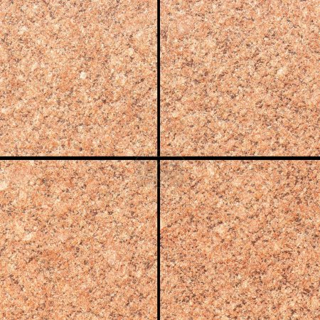 Vintage brown stone tile floor pattern and background seamless