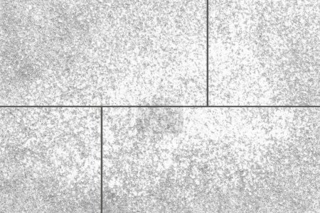 Vintage white stone tile floor pattern and seamless background