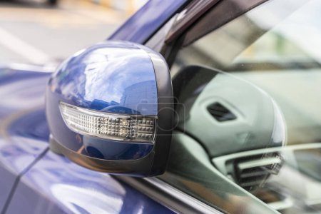 Photo for Close-up Car Rearview mirror - Royalty Free Image