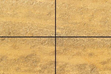 Foto de Azulejo de piedra marrón patrón de piso y fondo transparente - Imagen libre de derechos