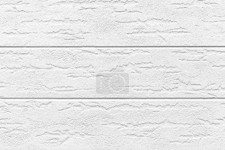Photo pour Texture et fond de mur en bois peint en blanc - image libre de droit