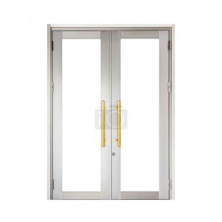 Photo pour Cadre de porte en aluminium isolé sur fond blanc - image libre de droit