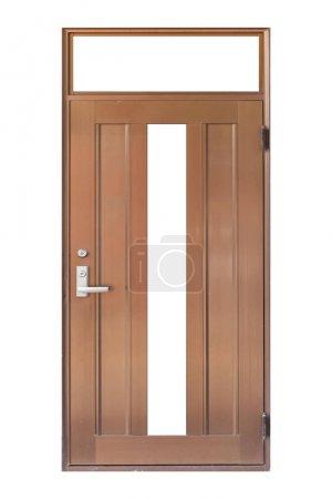 Photo pour Porte en aluminium isolée sur fond blanc - image libre de droit