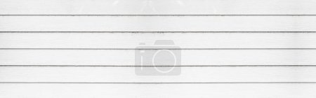 Photo for Panorama of Empty white plank panel wood wall surface texture for background or decoration design - Royalty Free Image