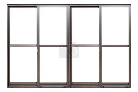Photo pour Cadre de fenêtre en aluminium isolé sur fond blanc - image libre de droit