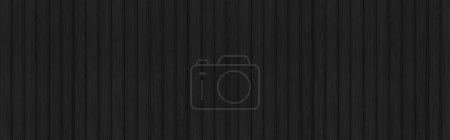 Panorama of black Corrugated metal background and ...