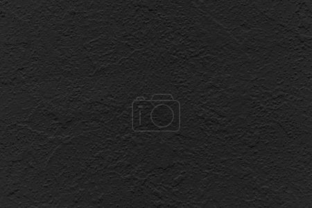 Photo for Black concrete stone texture for background in black.  Cement and sand grey dark detail covering. - Royalty Free Image