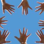 Volunteering concept, hands of group of people vol...