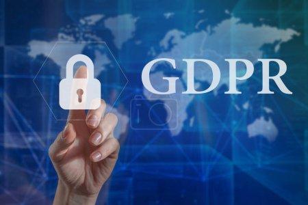 Foto de Gdpr. Regulación de la protección de datos. Seguridad y privacidad cibernéticas. Protección de datos personales, - Imagen libre de derechos