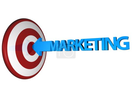 Photo for Icon of marketing hit to the target. - Royalty Free Image