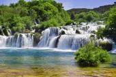 Waterfalls on Krka River. National Park, Dalmatia, Croatia