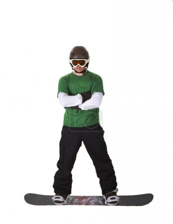 Photo for Snowboarder isolated on white background - Royalty Free Image