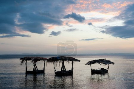 Photo for Sunset at lake Nicaragua, Central America. - Royalty Free Image